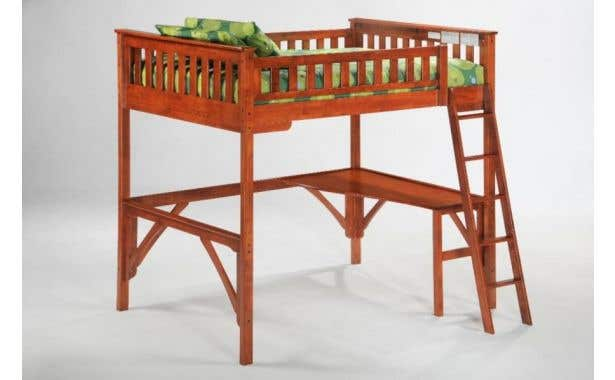 Pacific Mfg Ginger Loft Bunk Bed Complete