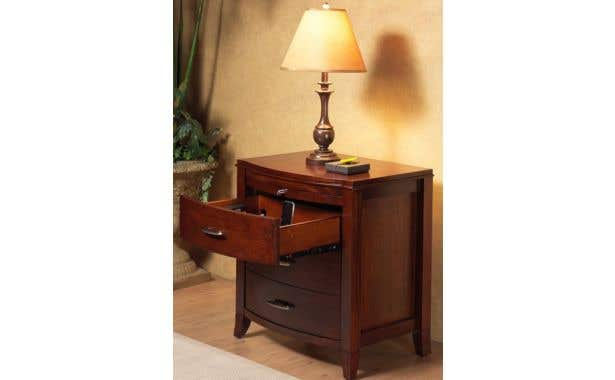 Modus Brighton Nightstand 2 Drawer with Power Outlet