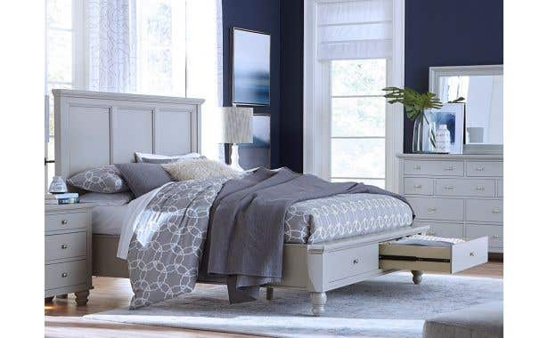 Aspen Home Cambridge Framed Panel Bed with Storage