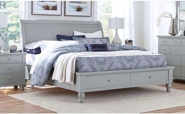 Aspen Home Cambridge Sleigh Bed with Storage