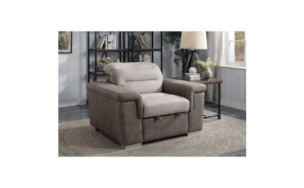 Homelegance Alfio Chair with pull out ottoman