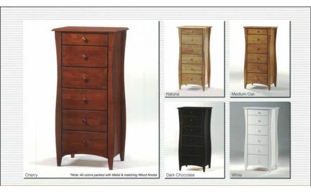 Pacific Mfg Spices Bedroom Clove Lingerie Chest